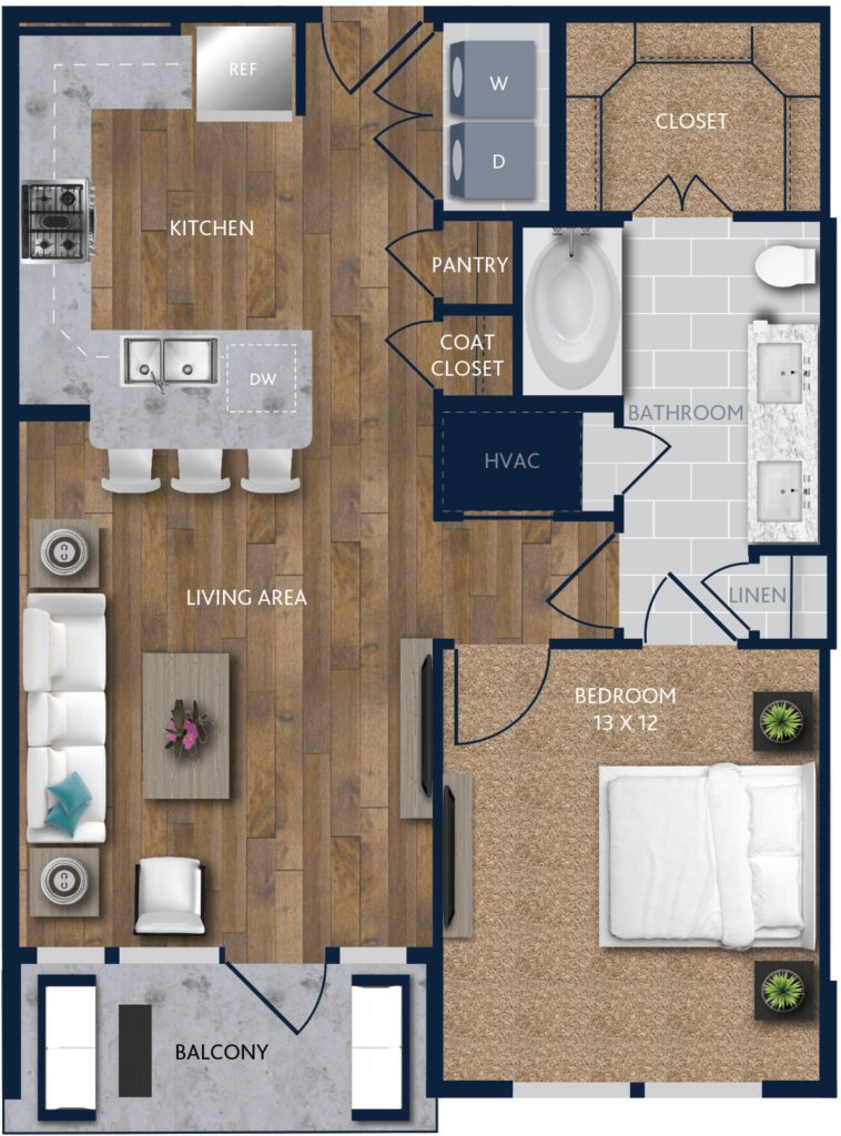 . A One Bedroom Apartments near Downtown Houston   Alexan City Centre