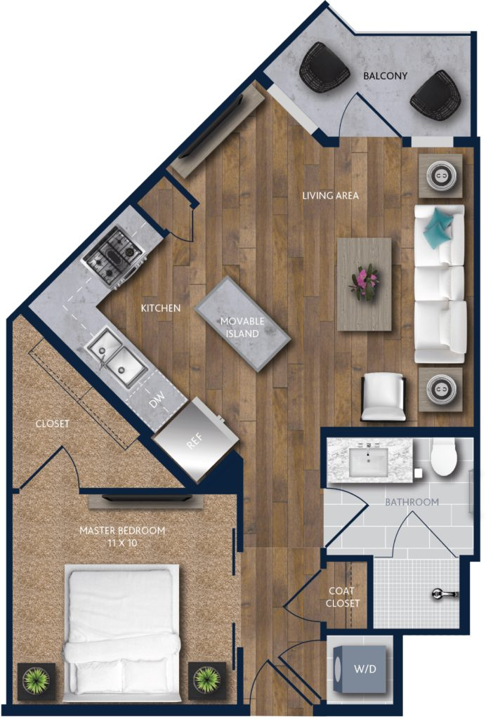 A1 one bedroom apartment in houston uptown alexan city - One bedroom apartments in houston ...